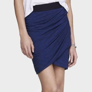 Express Marled Ruched Faux Wrap Mini Skirt Size XS